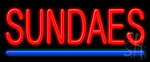 Sundaes Neon Sign