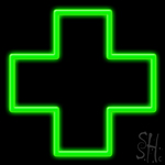 Cross Logo Neon Sign
