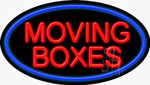 Moving Boxes Neon Sign