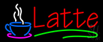 Red Latte Coffe Cup Neon Sign