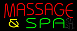 Red Massage And Spa Neon Sign