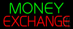 Green Money Exchange Neon Sign
