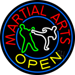 Martial Arts Neon Sign