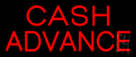 Cash Advance Red Neon Sign