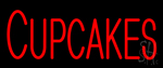 Red Cupcakes Neon Sign