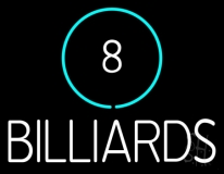 8 Billiards Neon Sign