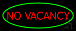 No Vacancy Oval Green Border Neon Sign