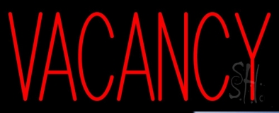 Red Vacancy Neon Sign