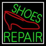 Green Shoes Repair Red Sandal Neon Sign
