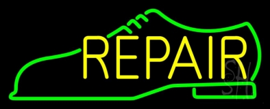 Green Shoe Yellow Repair Neon Sign