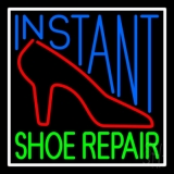 Instant Shoe Repair With Border Neon Sign