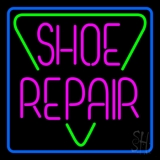Pink Shoe Repair Block Neon Sign