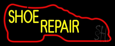 Red Boot Shoe Repair Neon Sign