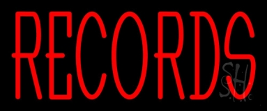 Red Records 1 Neon Sign