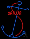 Red Sailor Logo Neon Sign