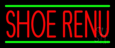 Red Shoe Renu Green Line Neon Sign
