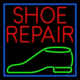 Red Shoe Repair Green Shoe Neon Sign