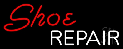 Red Shoe White Repair Neon Sign