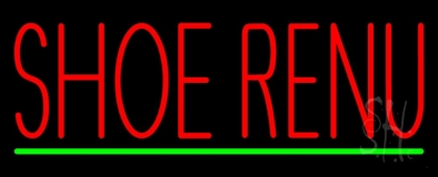 Shoe Renu Green Line Neon Sign