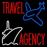 Travel Agency With Logo Neon Sign