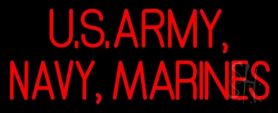 Us Army Navy Marines Neon Sign