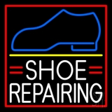 White Shoe Repairing Neon Sign