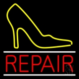 Yellow Sandal Logo Repair Neon Sign