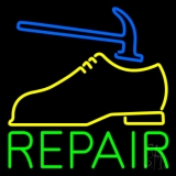 Yellow Shoe Green Repair Neon Sign