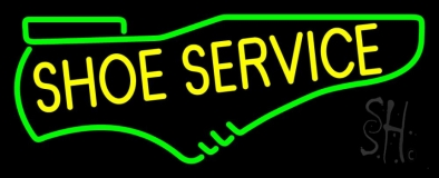 Yellow Shoe Service Neon Sign