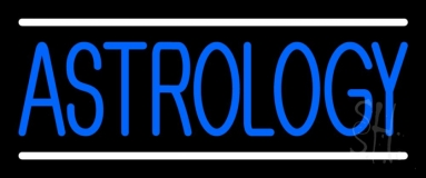 Blue Astrology Block Neon Sign