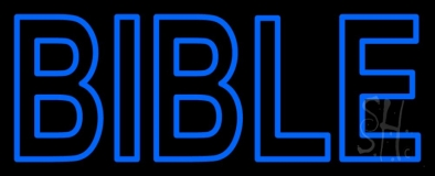 Blue Bible Neon Sign