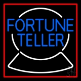 Blue Fortune Teller Logo Neon Sign