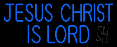 Blue Jesus Christ Is Lord Neon Sign