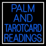 Blue Palm And Tarot Card Readings Neon Sign