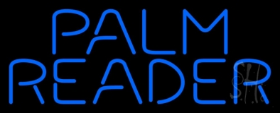 Blue Palm Reader Block Neon Sign