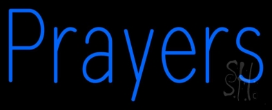 Blue Prayers Neon Sign