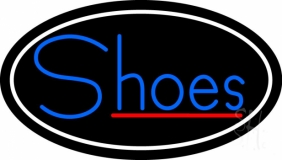 Blue Shoes Red Line Neon Sign