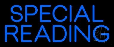 Blue Special Reading Neon Sign