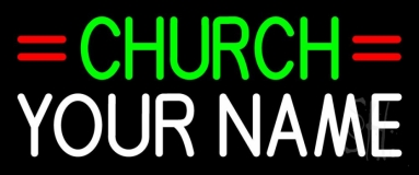 Custom Green Church Neon Sign