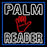 Double Stroke Palm Reader With Blue Border Neon Sign