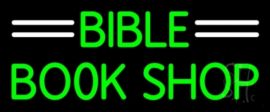 Green Bible Book Shop Neon Sign
