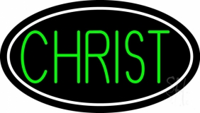 Green Christ Neon Sign
