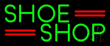 Green Shoe Shop Neon Sign
