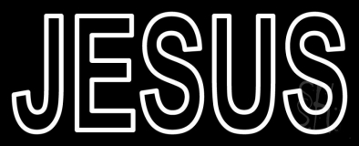Jesus Block Neon Sign