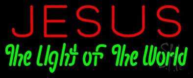 Jesus The Light Of World Neon Sign