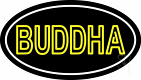 Lord Buddha With Border Neon Sign