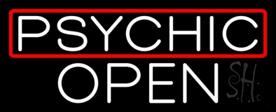 Psychic Red Border Open Neon Sign