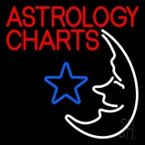 Red Astrology Charts Neon Sign