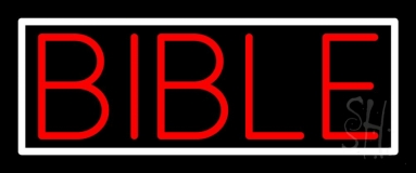 Red Bible Neon Sign