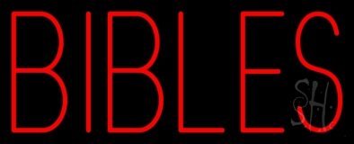 Red Bibles Neon Sign